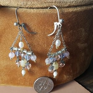 Jewelry - 926 silver dangle beaded earrings